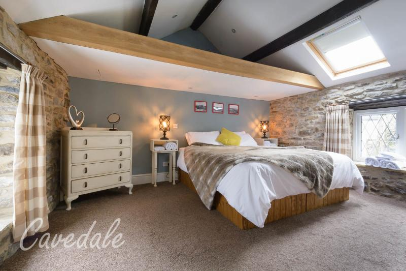Master bedroom with super king size bed