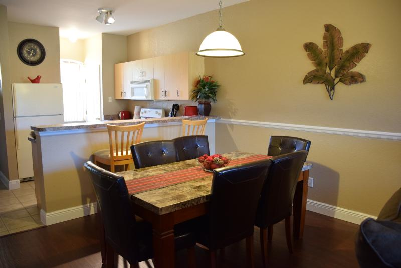 Dining Room and Breakfast Bar open to Living room