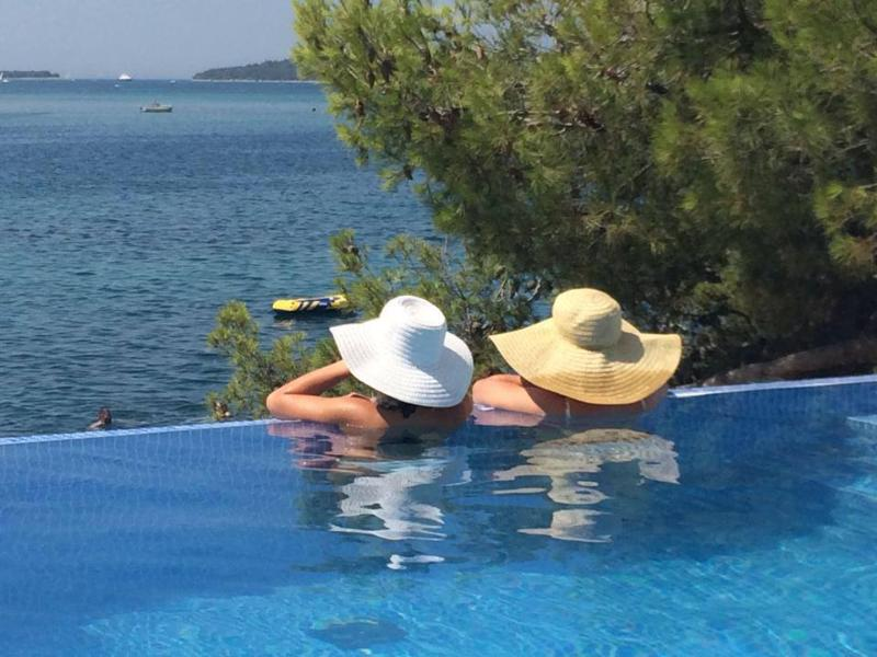 Enjoying the seaview from the infinity pool