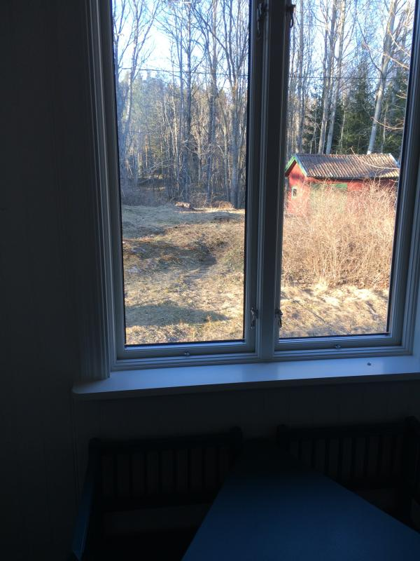 Small house where you will find the firewood (seen from the hallway)