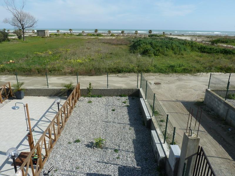 Private backyard facing Ionian Sea
