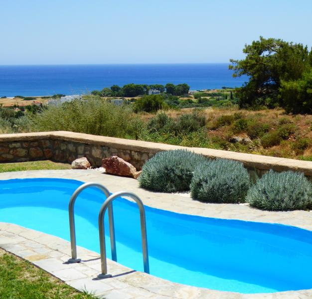 Private pool with superb views to Gennadi beach