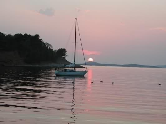 Enjoy in a beautiful sunset