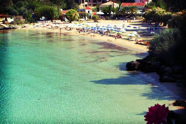 beach 'Kalogria' in Stoupa 10 minutes by car from Orfea's Place