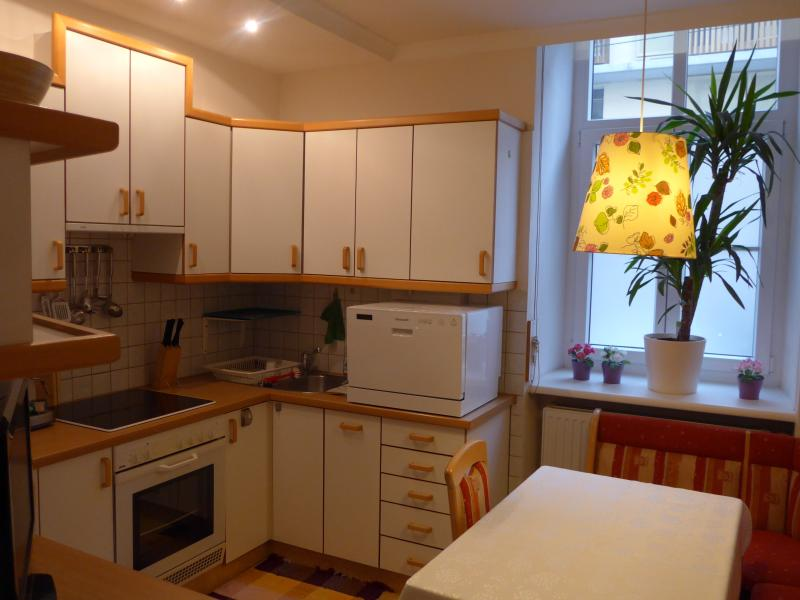 Kitchen with dining area for four