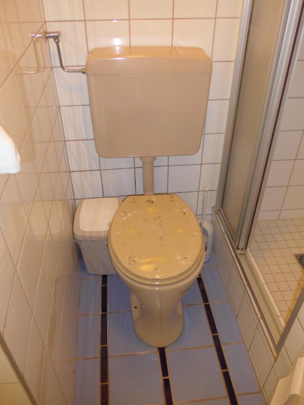 Bathroom with WC, shower, wash-basin