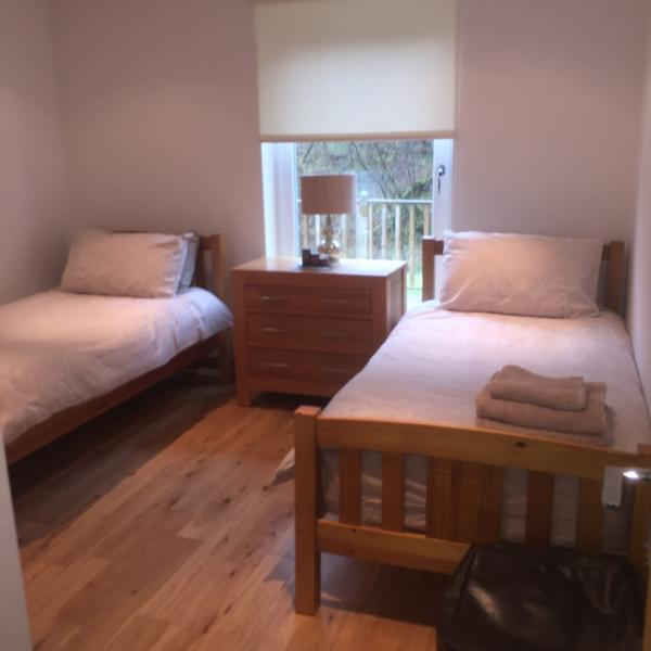 1st room with 2 X single beds