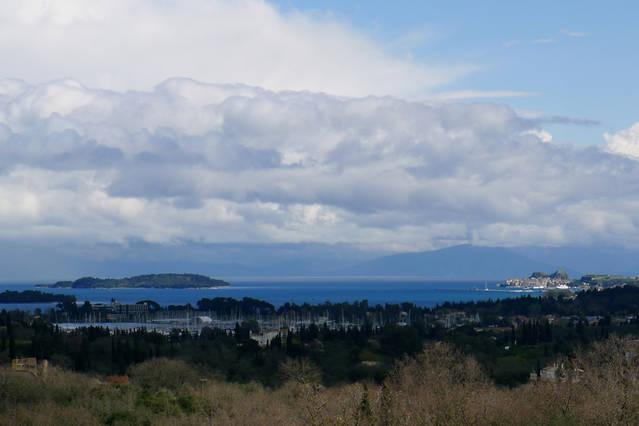 View of Corfu town from the house