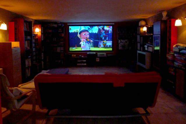 Home cinema with full dolby system