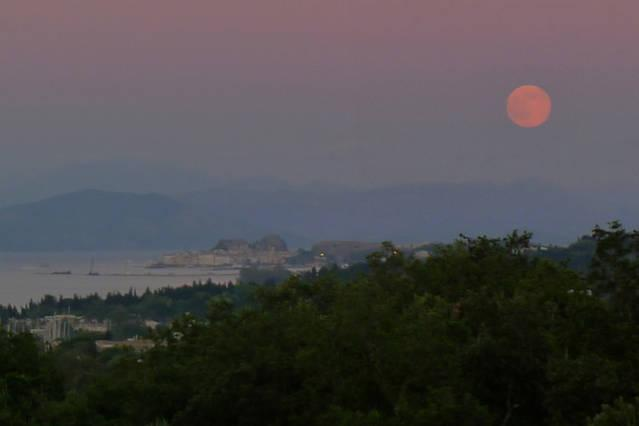 Full moon-view from the balcony