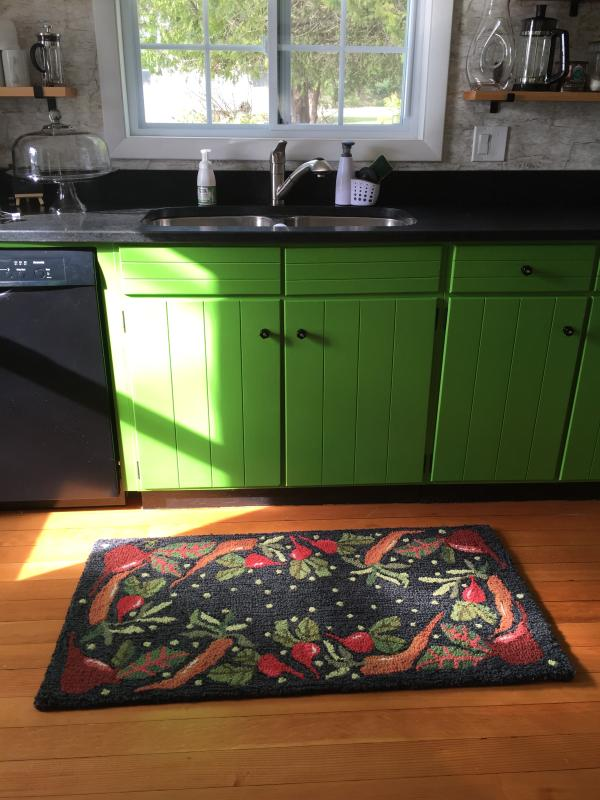 Lovely rug by Judith Reilly, local artist