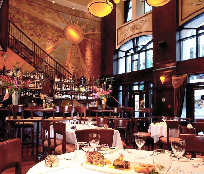 Copper Chimney Restaurant on the ground floor
