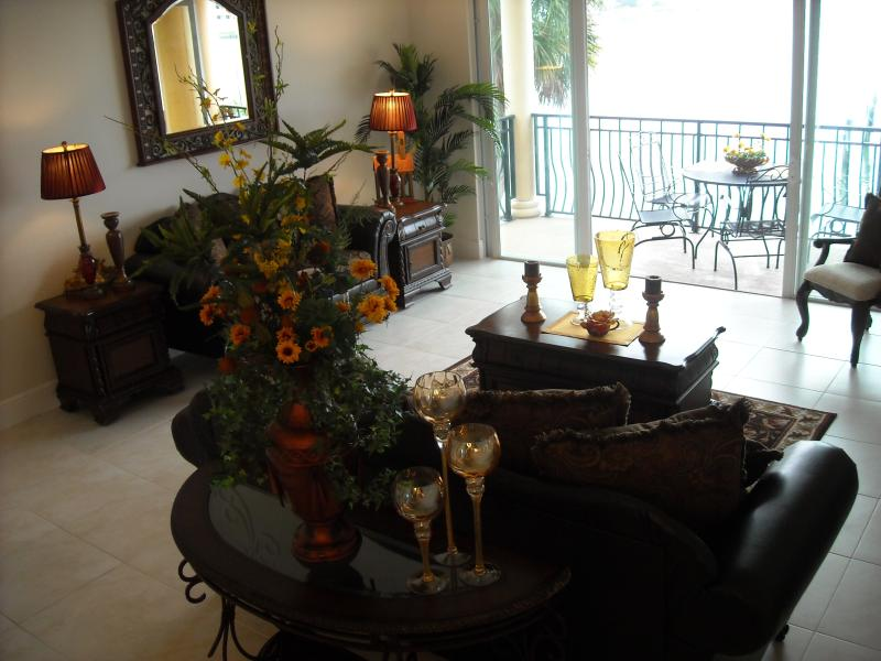 Ambiance of Boca Ciega Bay along with Mediterranean touch