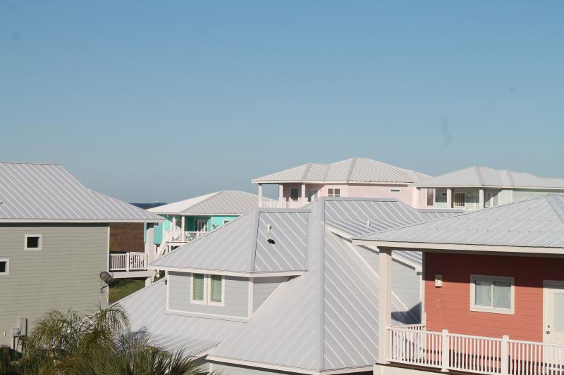 Looking towards to Gulf at our colorful neighborhood!