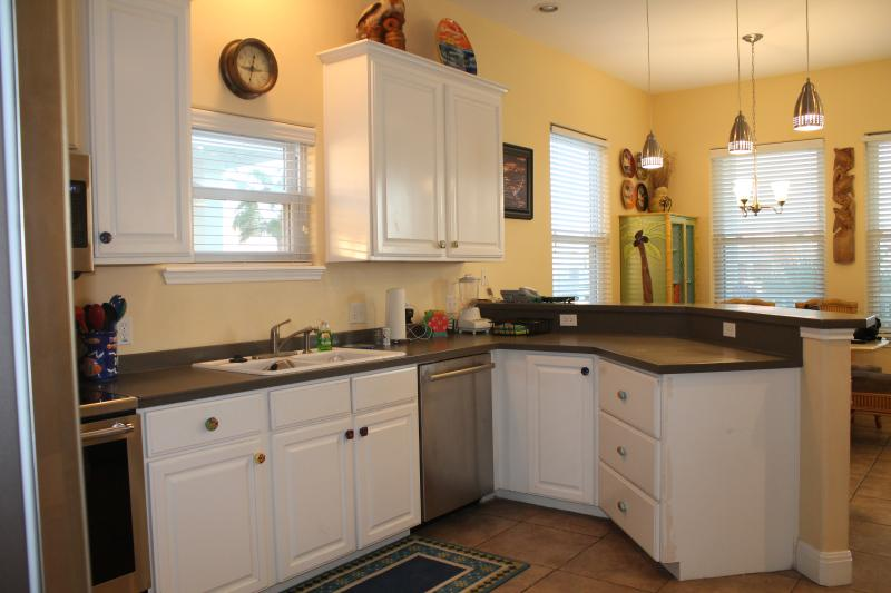 Kitchen with brand new stainless steel appliances!