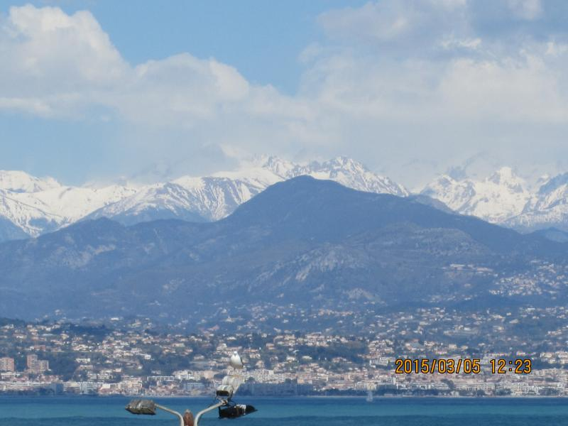 Stations de ski of the Alpes Maritimes looking over NIce from the balcony