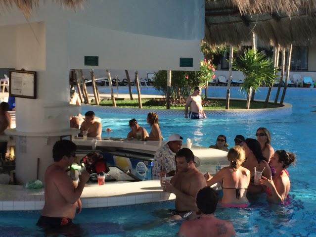 Pool side bar.