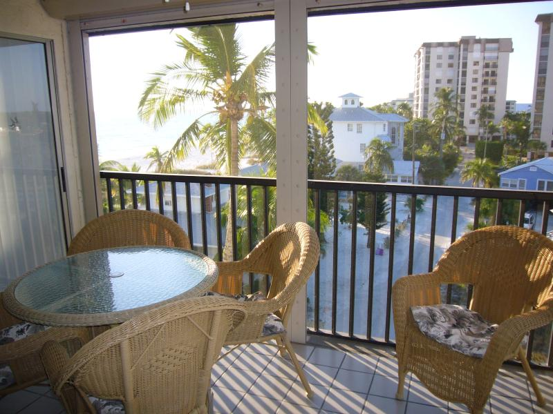 Screened Lanai with Beach Views