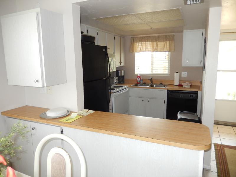 Full Kitchen with All Appliances, Pots & Pans, Dishes.