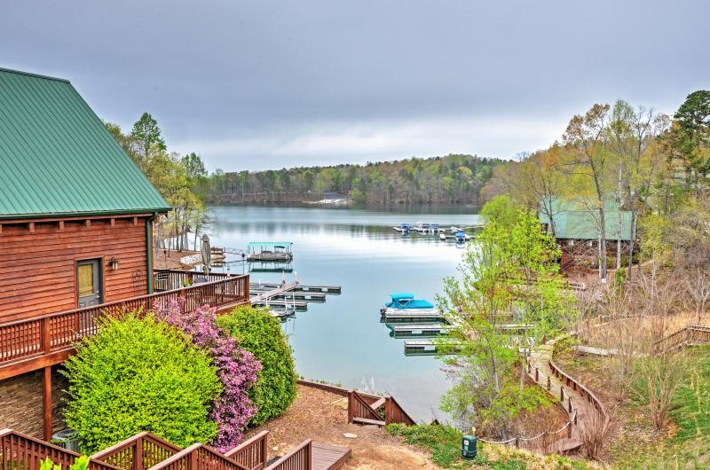Admire stunning lake views from this Six Mile vacation rental home!