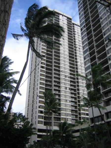 View of Waikiki Banyan towers