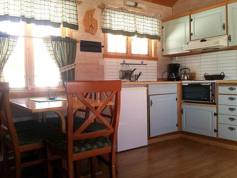 The kitchen area in Lisshytta