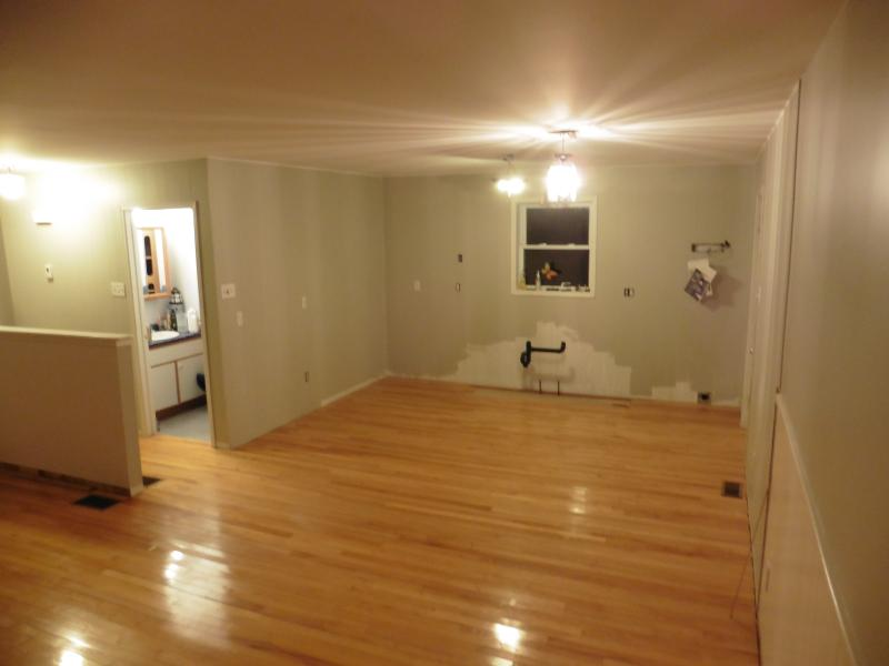 new hardwood floors! new cabinets next! :-)  april 2016