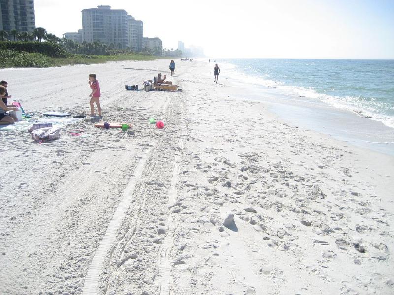 Nuestra playa privada y acceso privado. La arena se sustituye cada tres años y se limpian cada noche.