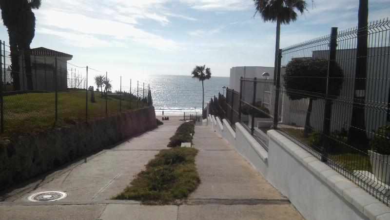 a pie de playa
