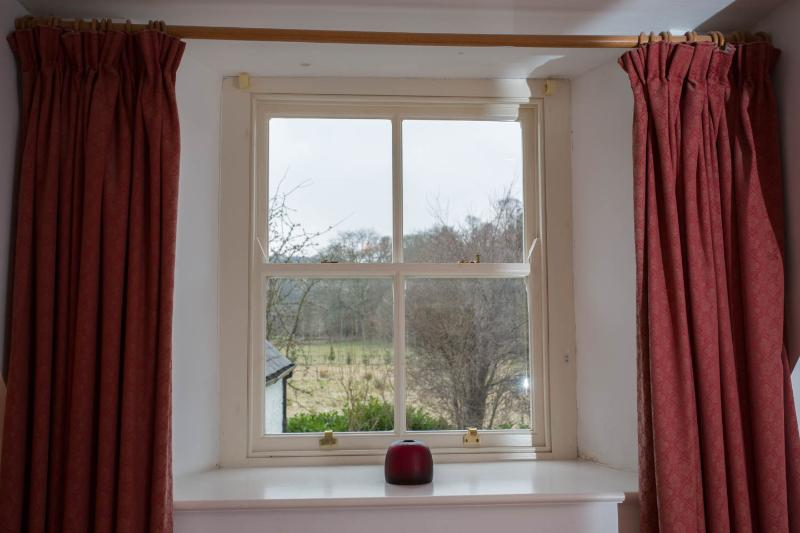Views over the Snowdonia countryside from bedroom1