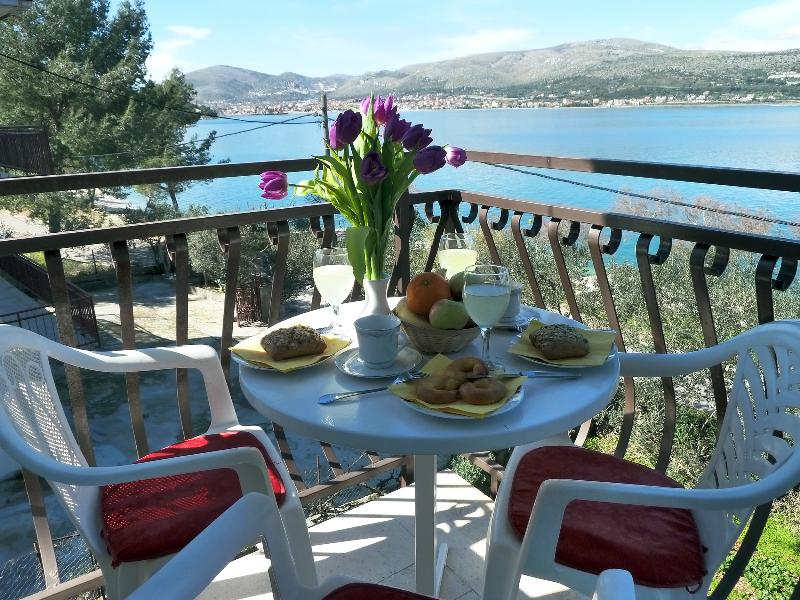 Breakfast at the terrace with a view