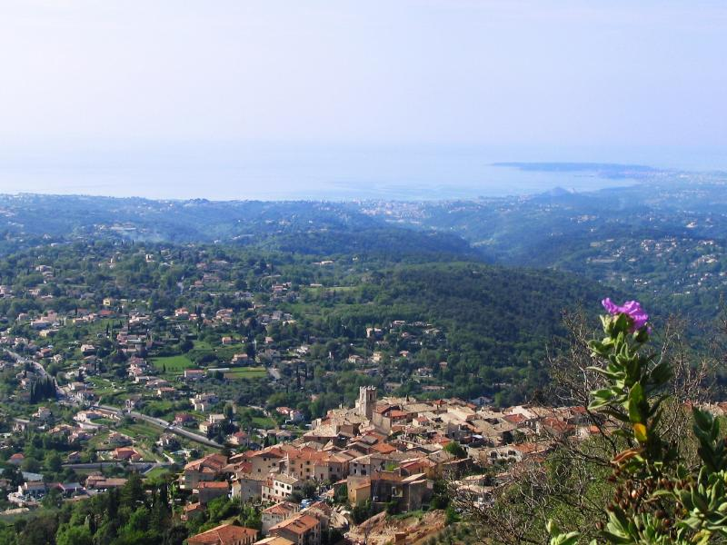 St Jeannet overlooking the Mediterraneen sea and the Cap d'Antibes...