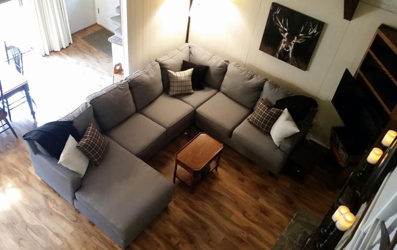 New sectional, lighting and décor.