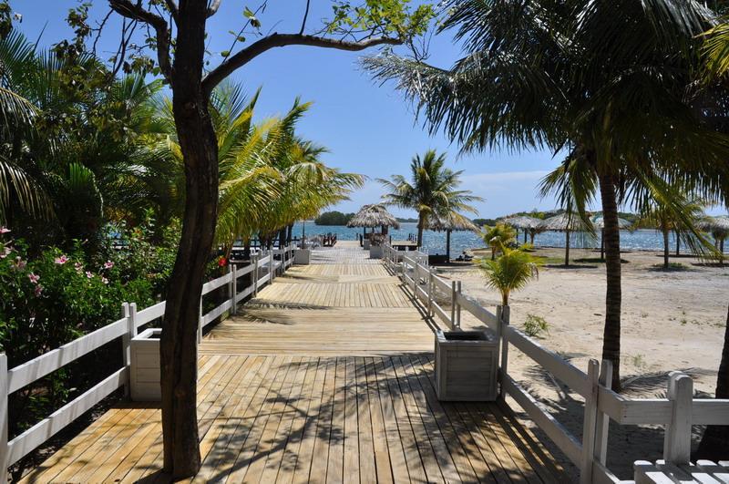 Walkway to Villa Reef and Palms (Yellow House at Las Palmas Resort)