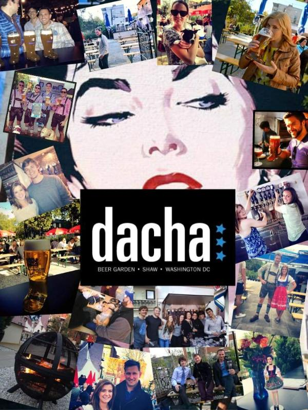 Our far neighbor, Dacha Beer Garden, is one of the trendiest place in DC.