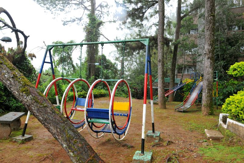 Children's play area within our secured compound