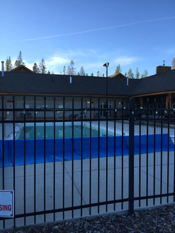 Swimming pool and clubhouse