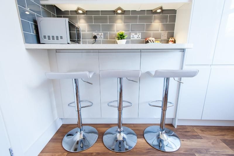 Kitchen fitted with modern appliances