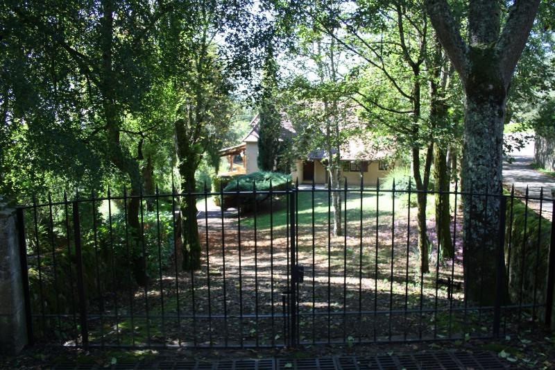 The driveway with gates