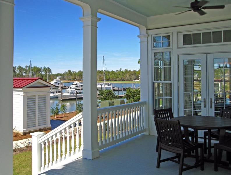 Deck looking at Grace Harbor