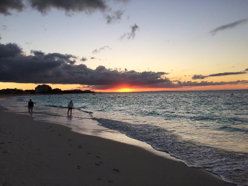 Sunset on Grace Bay Beach.