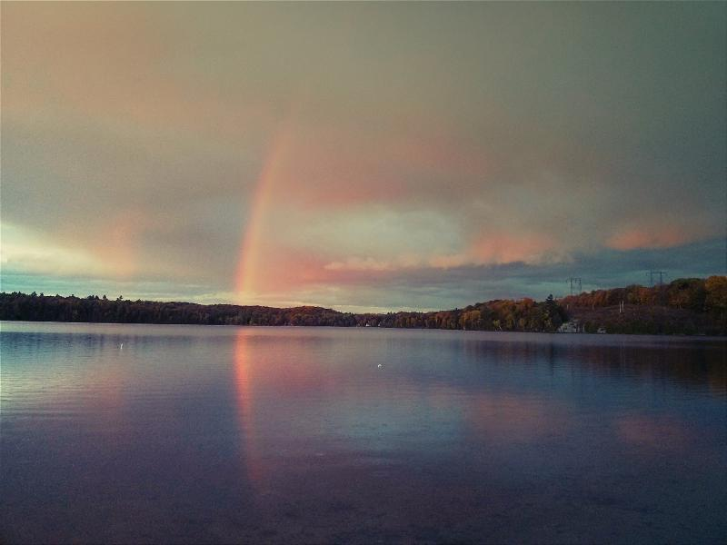 See the rainbow, discovered the experience