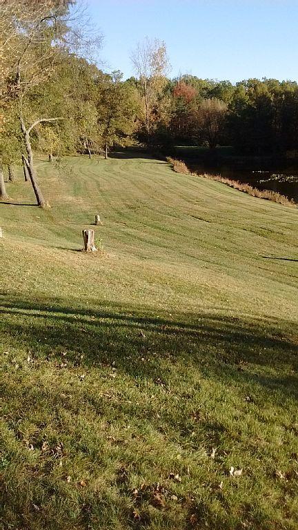 Endless yard by the bluegill pond