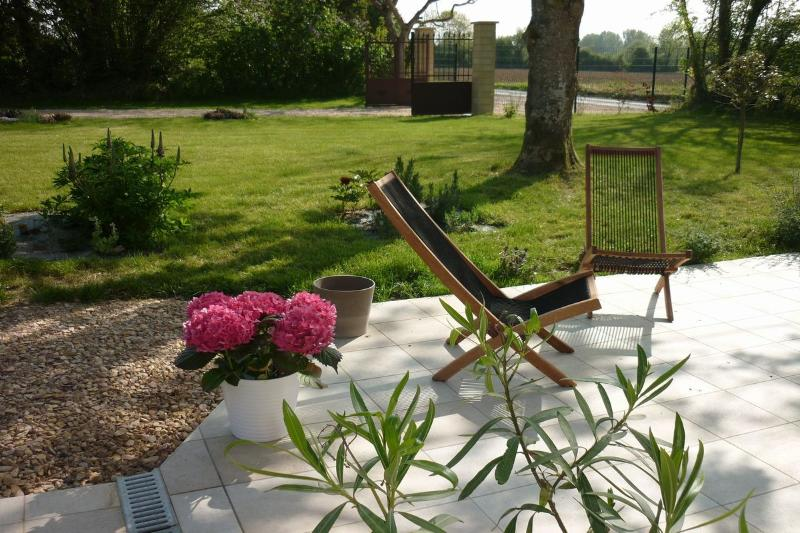 Loungers to enjoy a relaxing time in the garden.