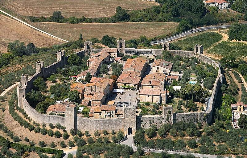 Monteriggioni Castel Luftbild