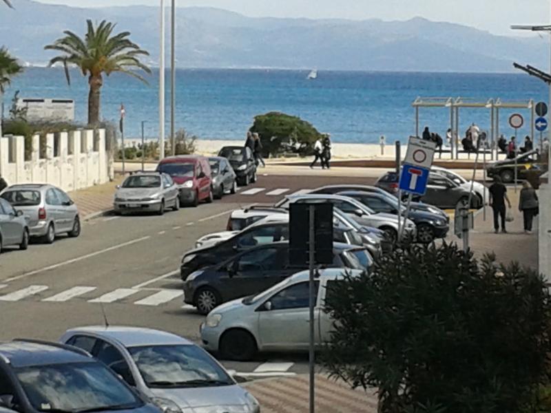 la spiaggia dal balcone