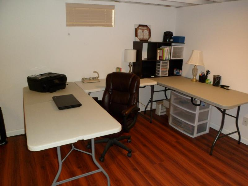 Home office space in basement