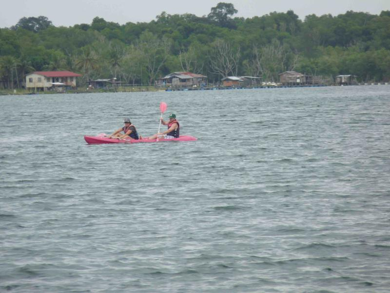 Kayaking at the lagoon within the resort