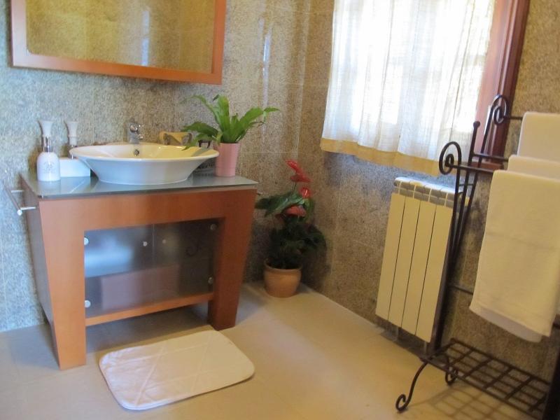 En suite bathroom for master bedroom (shower out of sight)