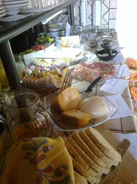 La prima colazione a buffet